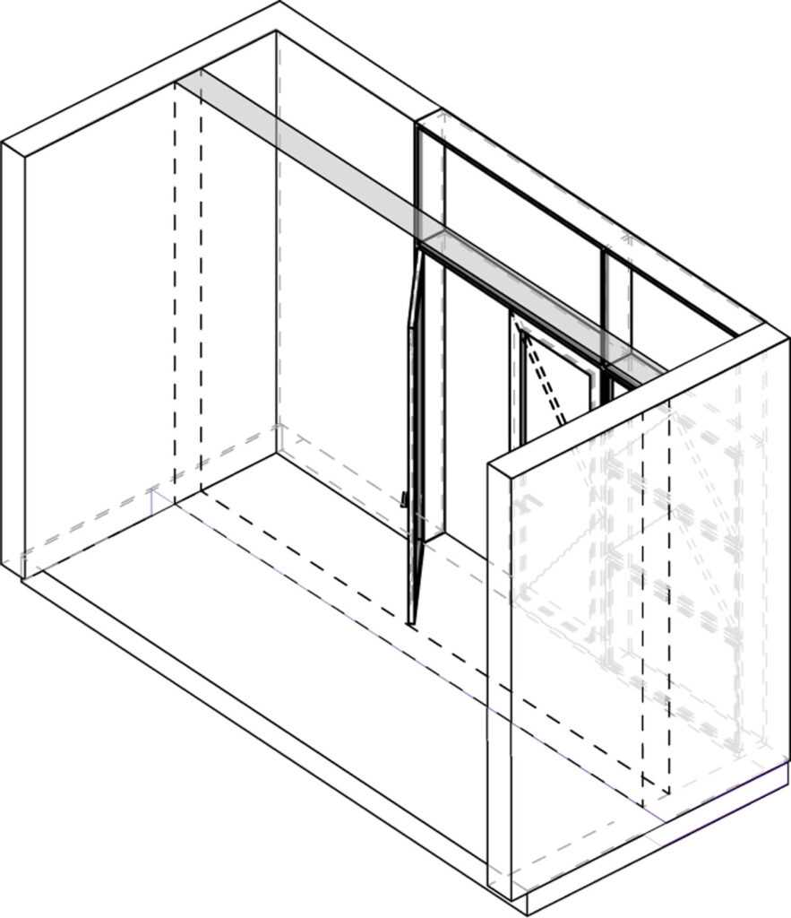 Axonometric projection of expansion module.