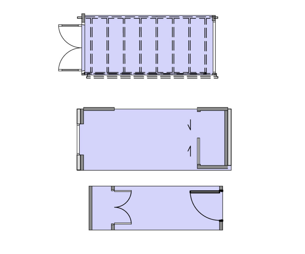Plans of link modules.